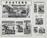 Western Movies - La Rivière Sans Retour (River of no return) 1954 - Documents et Affiches