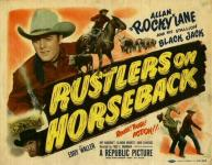 Western Movies - Rustlers on Horseback 1950 - Documents et Affiches
