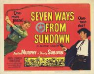 Western Movies - Les sept chemins du couchant / Les 7 chemins du couchant (Seven Ways from Sundown) 1960 - Documents et Affiches