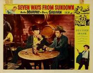 Western Movies - Les sept chemins du couchant / Les 7 chemins du couchant (Seven Ways from Sundown) 1960 - Documents et Affiches