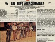 Western Movies - Les Sept Mercenaires / Les 7 Mercenaires (The Magnificent Seven / The Magnificent 7) 1960 - Documents et Affiches