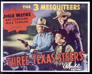 Western Movies - La Lutte pour le ranch (Three Texas steers / Danger rides the range) 1939 - Documents et Affiches
