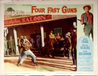Western Movies - Four Fast Guns 1960 - Documents et Affiches